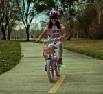 Biking in the park
