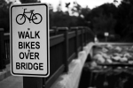 Walk Bikes Over Bridge
