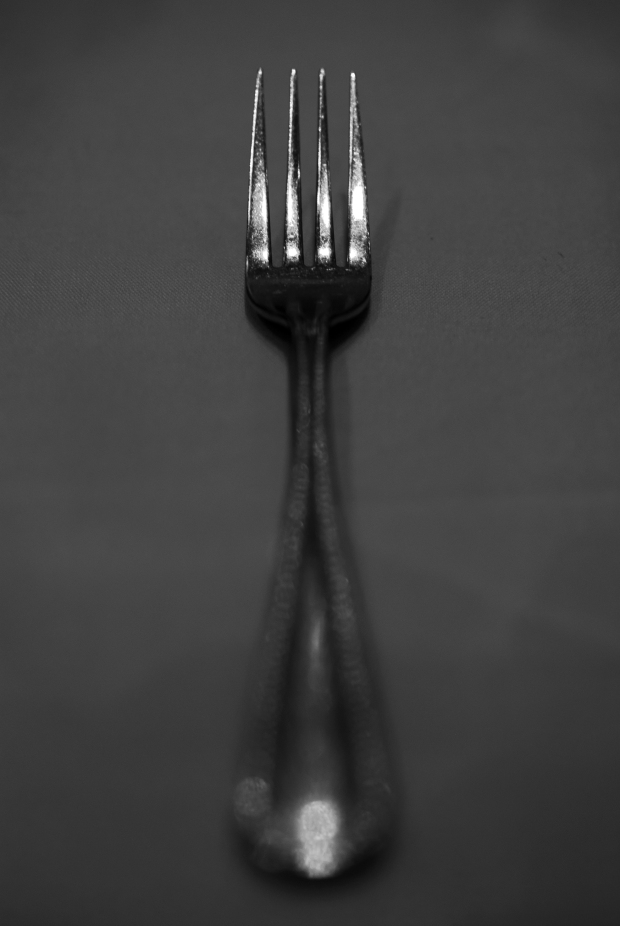 Fork #1 (Black and White)