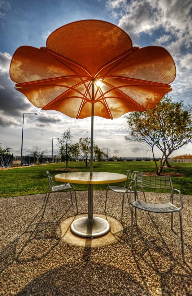 Umbrella Table - Orange County Great Park, Irvine, OC, CA