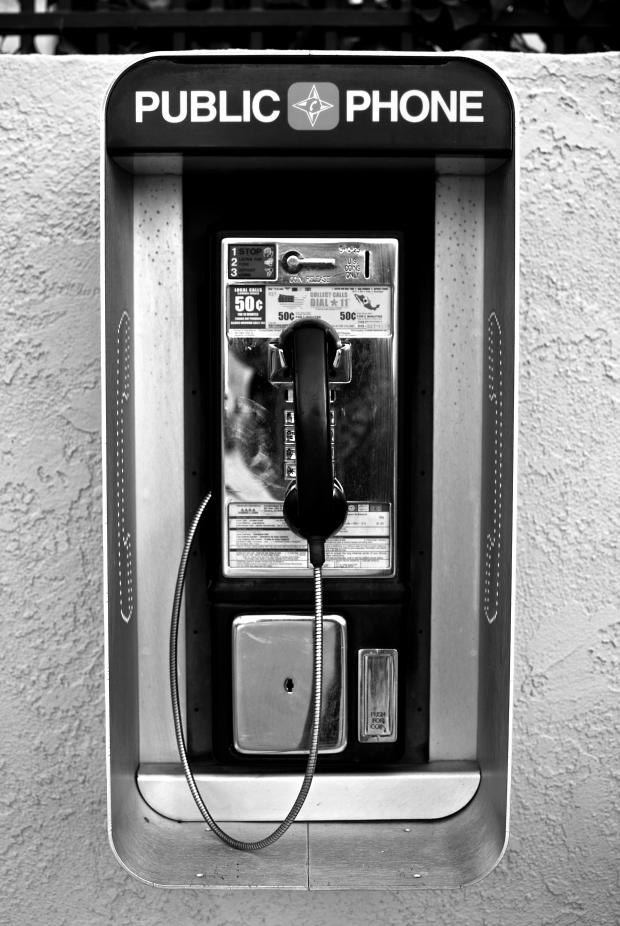 Public Phone #1 (Black and White)