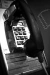 Public Phone #3 (Black and White)