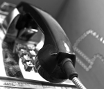 Public Phone #5 (Black and White)
