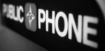 Public Phone #7 (Black and White)