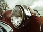 Vintage Chrysler Car Headlight