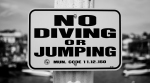 No Diving Or Jumping Sign - Balboa Island