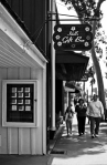 Family waIking by the Idell's Gift Shop - Balboa Island