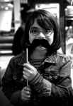 My Daughter wearing the Mustache!
