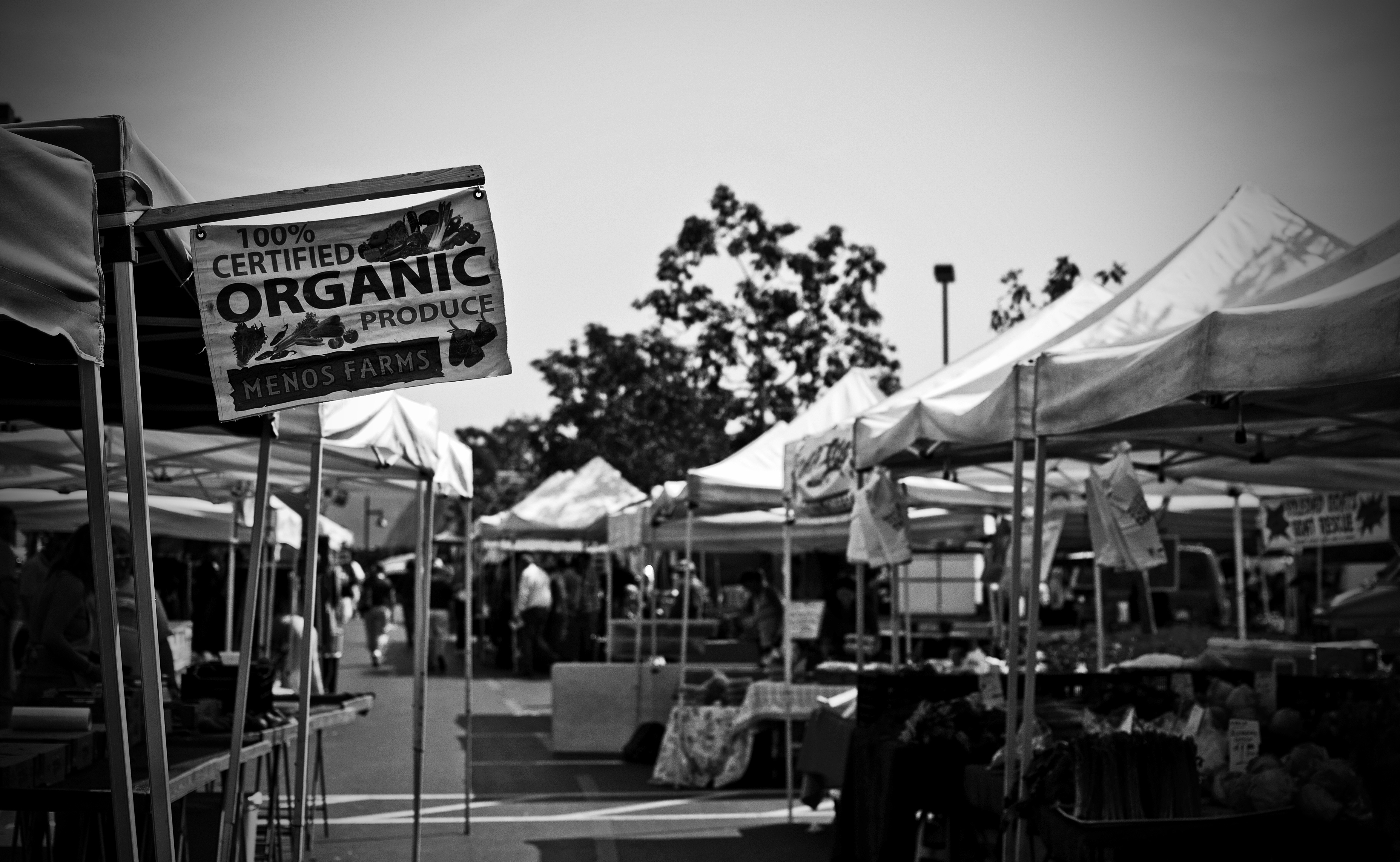 Farmers Market in Black and White and Oranges Baskets | My ...