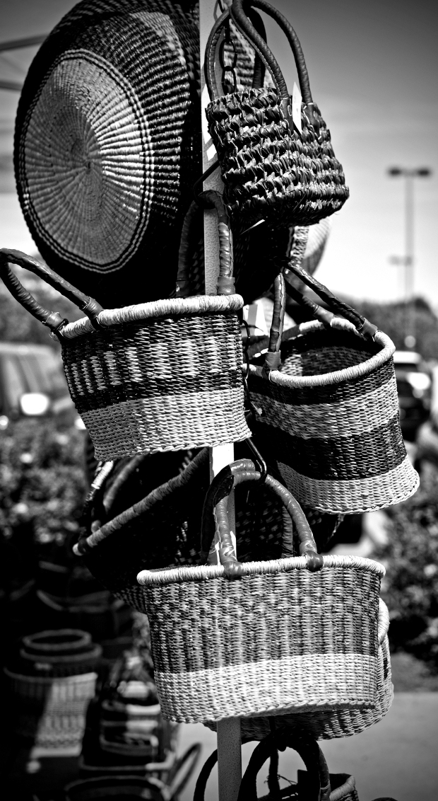 Reed Basket #1 - Black and White