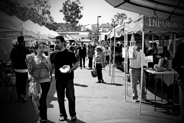 Farmers Market #2 - Black and White