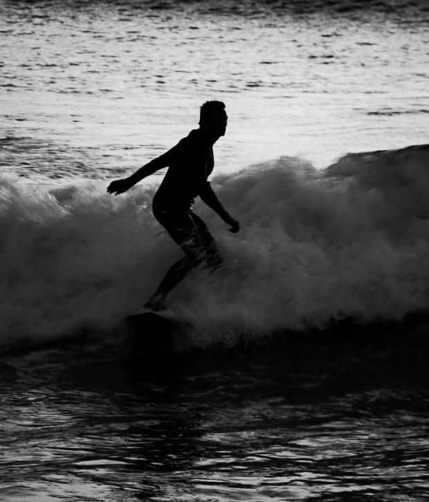 Surfer Silhouette - La Jolla, San Diego #1