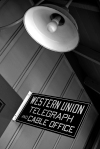 Western Union Telegraph and Cable Office Sign - La Mesa Depot Building