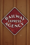 Railway Express Agency Building Sign - La Mesa Depot