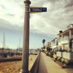 Balboa Island - TOPAZ Avenue Street Sign