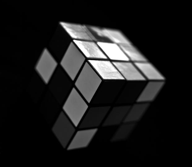 Rubik's Cube #1 - Black and White