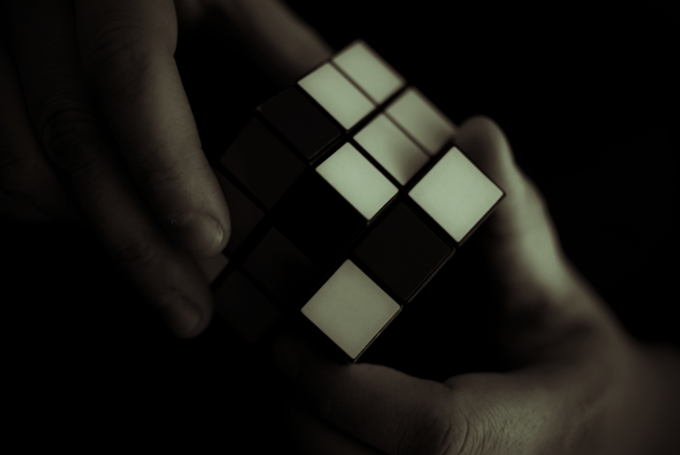 Image result for rubix cube dark