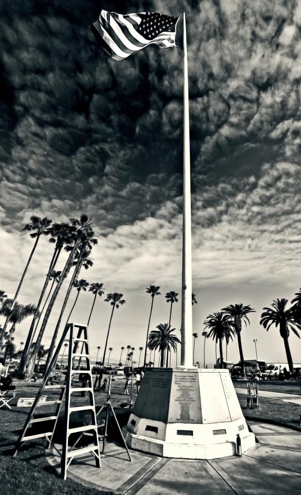 Giant American Flag - Balboa Peninsula