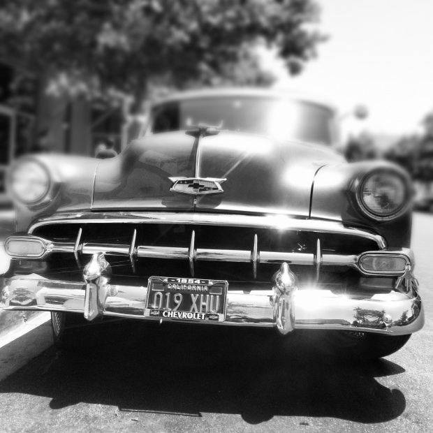 Vintage Chevy - Black and White