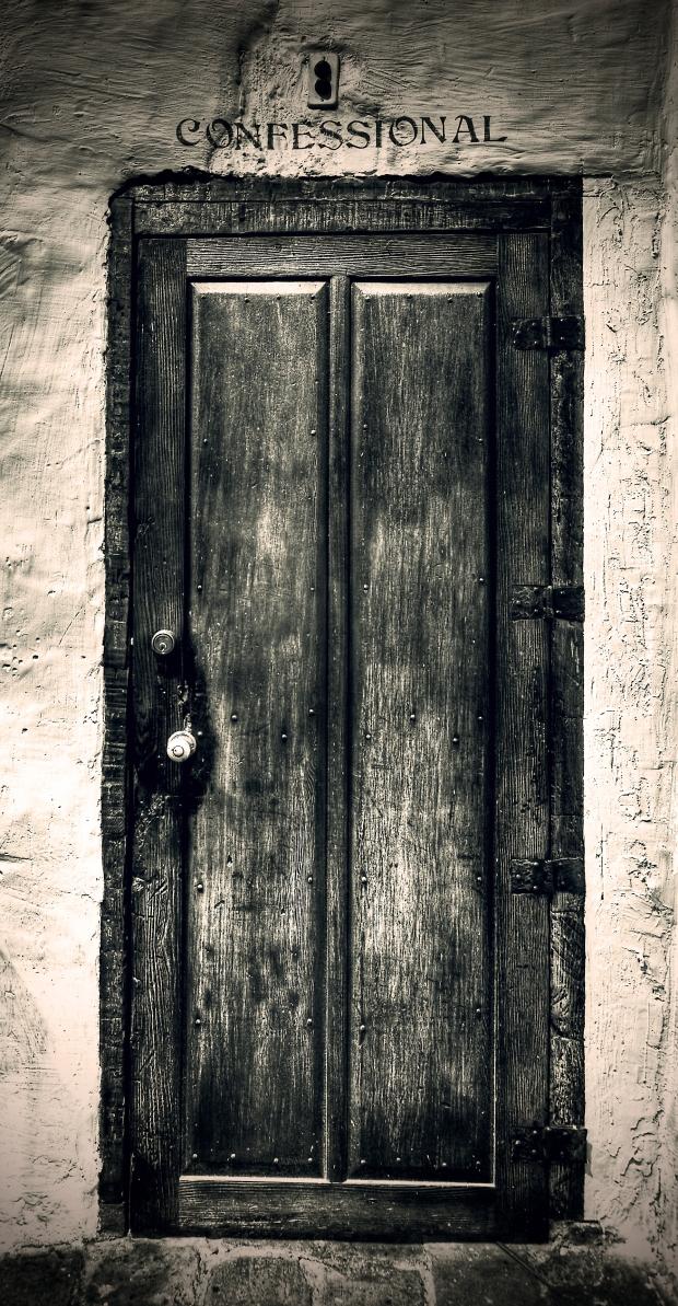 Mission San Diego de Alcalá - Confessional Door
