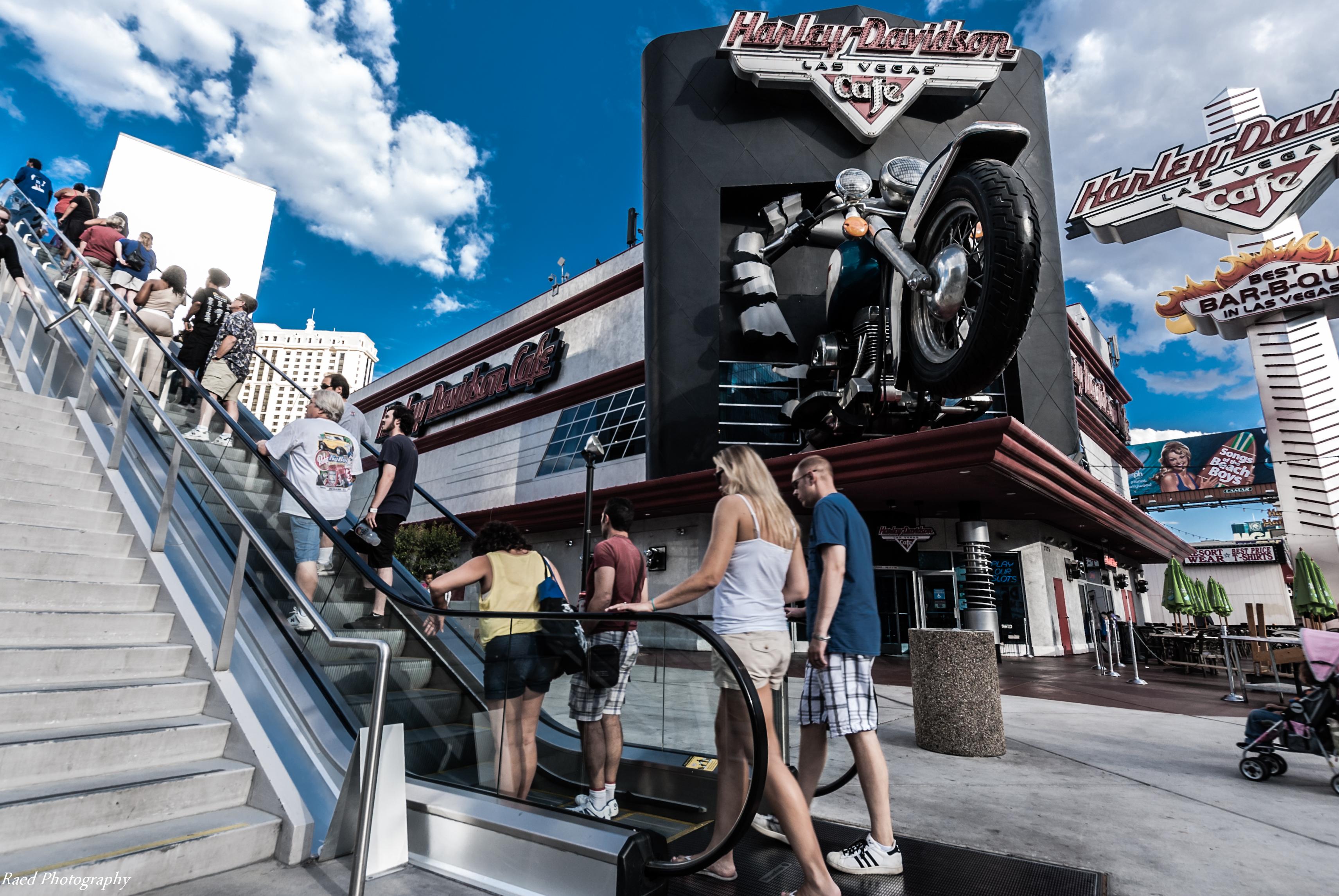 las vegas – harley davidson cafe – street photography | my camera