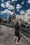 Las Vegas - Taking a photo for the Eiffel Tower - Street Photography