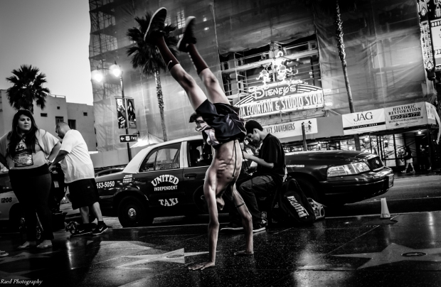 Hollywood Walk of Fame - Break Dance Street Show