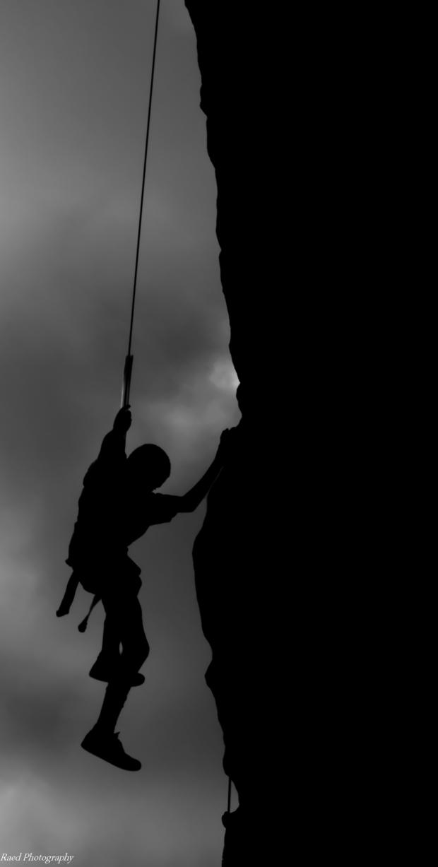 Climbing Down Silhouette