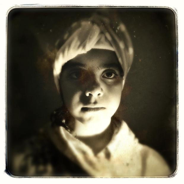 Vintage Sepia Portrait - D-Type Plate / Tinto 1884 Lens