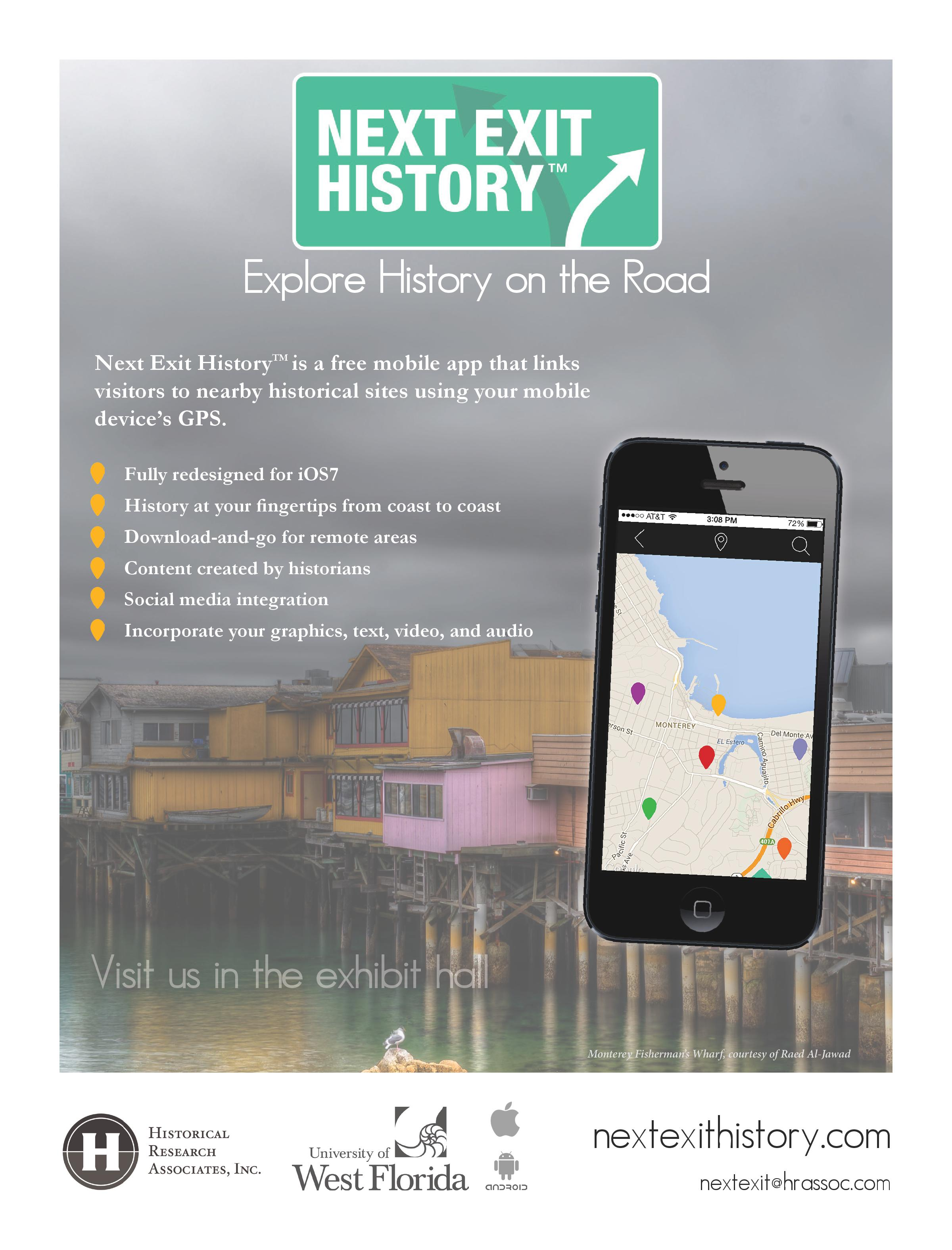 Next Exit History - Historical Travel App by Historical Research Associates